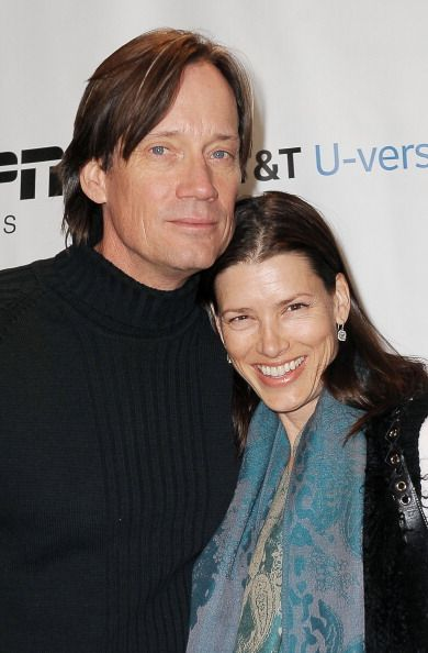 Actor Kevin Sorbo and wife Sam Jenkins attend The ESPN Lounge Presented by ATT Uverse at St Regis Deer Valley on January 22 2012 in Park City Utah
