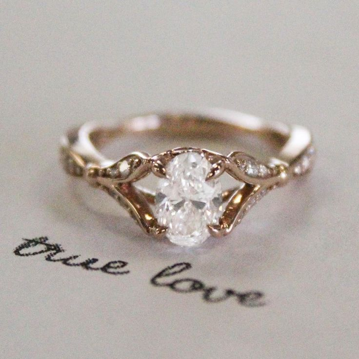 "Brilliant Earth on Instagram: ""It's true love. #BrilliantEarth #diamond #engagementring #rosegold #ido"""