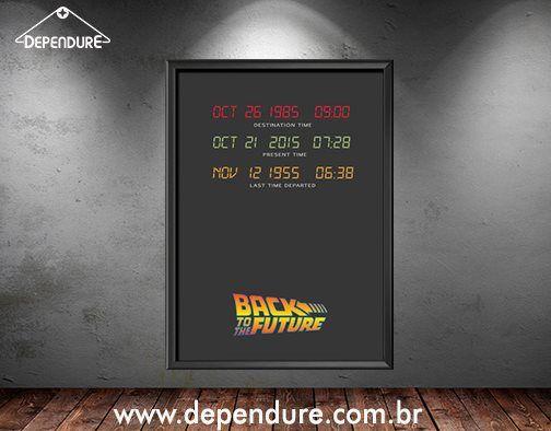 """""""Estradas? Para onde vamos não precisamos de estradas.""""  Já que estamos num ano bem importante para De Volta para o Futuro, nada melhor que esse poster para trazer a lembrança desse filme!  Corre já para loja... www.dependure.com.br"""