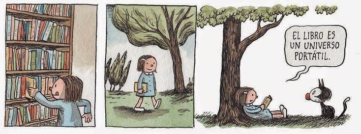★Destellos Nocturnoss★: Historietas sobre el Amor Literario: Enriqueta y Fellini by Liniers