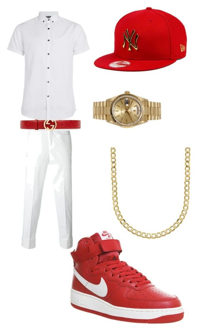 """RED CARPET"" by biggestcreativecam on Polyvore featuring Neil Barrett, Gucci, Rolex, New Era, Topman, Lord & Taylor, NIKE, men's fashion and menswear"