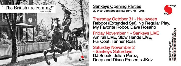 Sankeys NYC Opening Party @ Sankey NYC, NY, USA