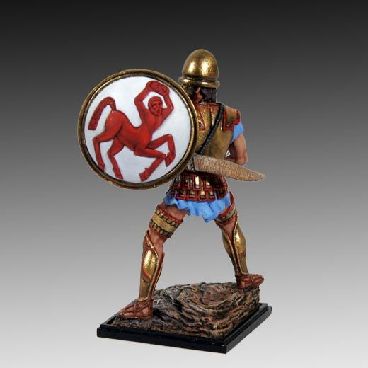Etruscan Warrior with Sword V c. BC. lead soldiers, toy soldiers, historical miniatures