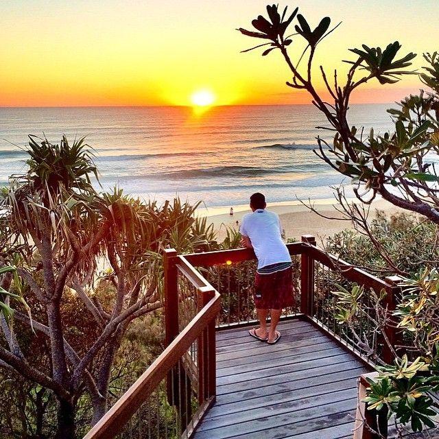 Early morning glow at Sunshine Beach.
