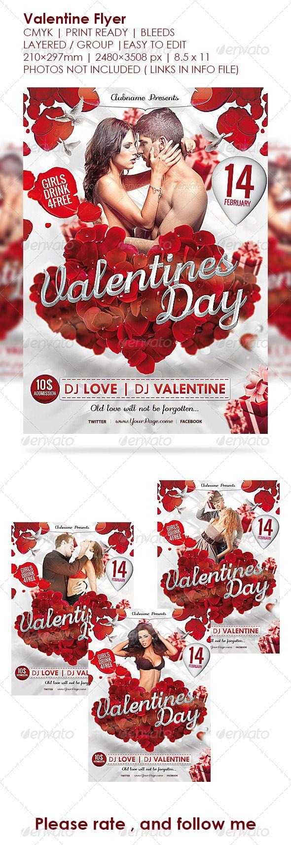 Valentine's Day Flyer Valentines Poster