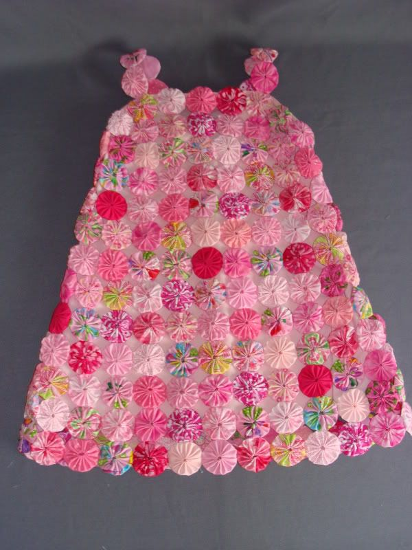 The Pink Fabric Yo-Yo Dress Handmade Sewing Children - on Craftster.org CLOTHING