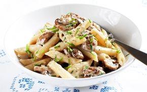 Sienipasta / Mushroom pasta