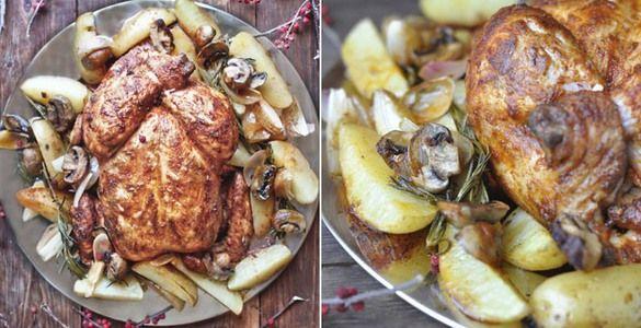 курица в духовке рецепт, курица в духовке с картошкой, как приготовить курицу в духовке, запеченная курица, курица в паприке