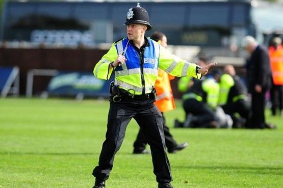 Bristol Rovers v Mansfield Town pitch invasion