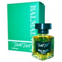 Vent Vert (original) by Pierre Balmain (1947) first successful scent best-selling perfumes of late 1940s and 1950s, is a Floral Green fragrance for Women. Re-introduced in 1991. Top notes lime, orange blossom, green notes, asafoetida, peach, basil, lemon, bergamot and neroli; middle notes are violet, freesia, jasmine, hiacynth, ylang-ylang, lily-of-the-valley, rose, galbanum, marigold, spicy notes; base notes are iris, sandalwood, amber, musk, oakmoss, sage, vetiver, styrax and cedar.