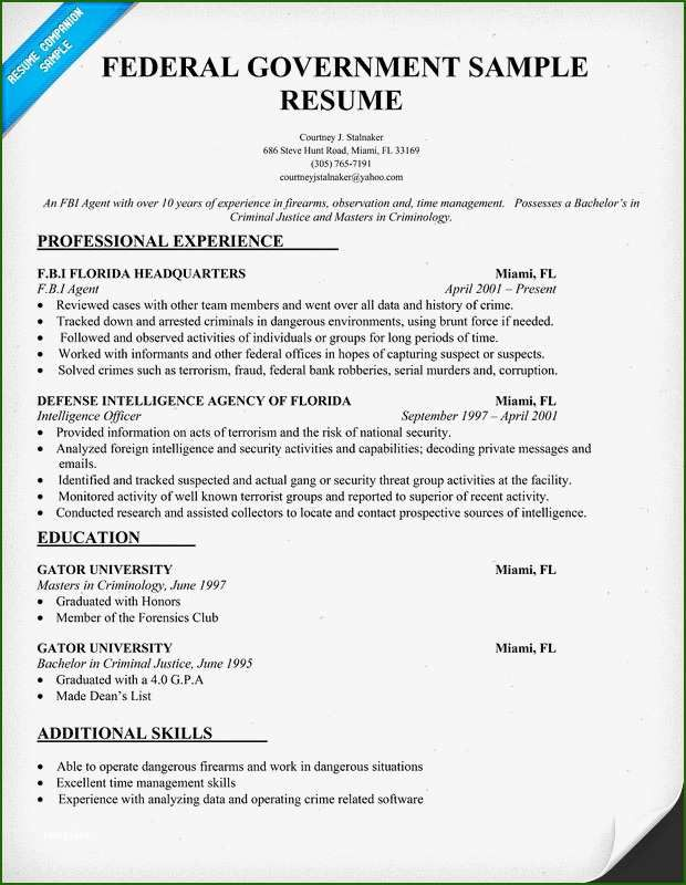 18 Exemplary Federal Resume Template 2016 For 2020 In 2020 With