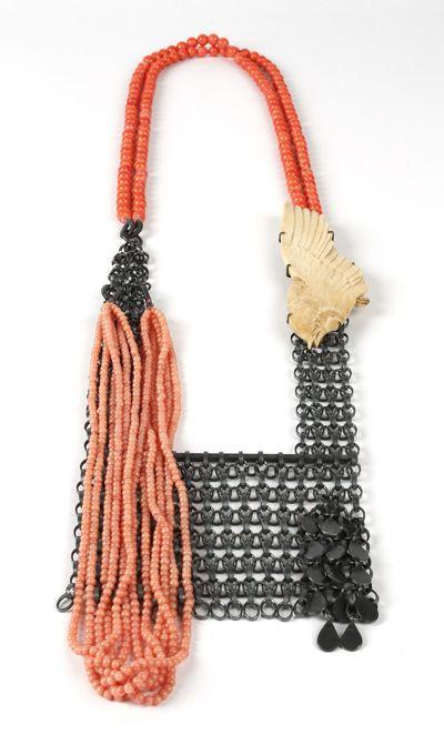 coral bead necklace, Zoe Arnold