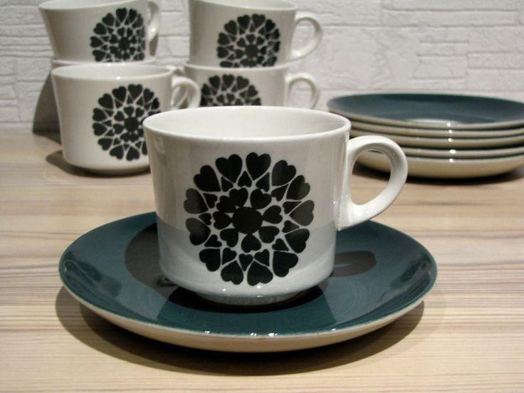 Arabia BR mallin kahvikuppi, sydänkoriste - FourSeasons.fi
