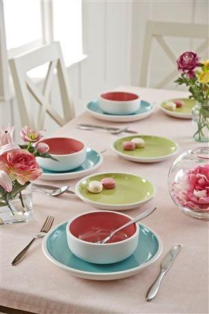 Una Pastel Dinner Set Nexthome Modern Interior DesignModern InteriorsNext UkThe