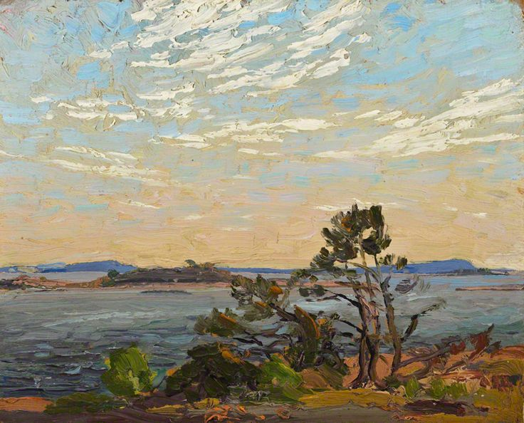 Tom Thomson Georgian Bay, 1914 Oil on Wood 21.6 x 26.7 cm