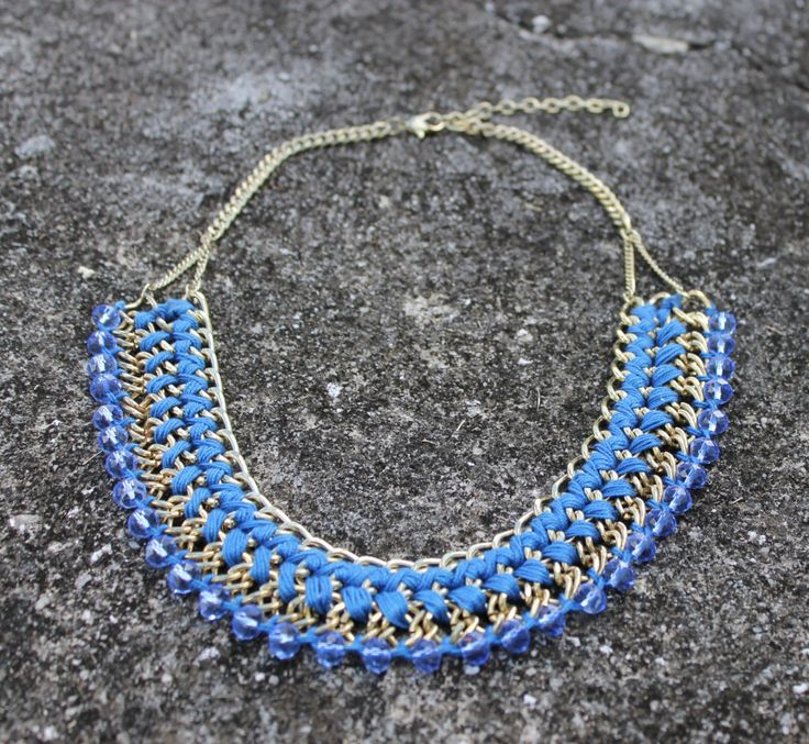 A personal favorite from my Etsy shop https://www.etsy.com/listing/255080577/statement-necklace-party-wear-jewelry
