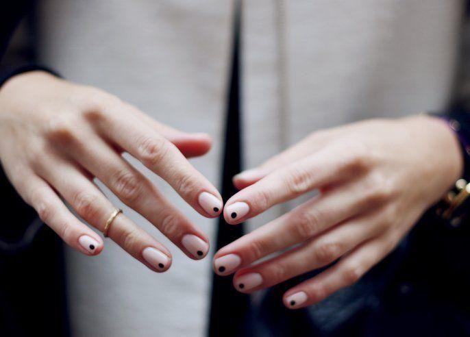 Spot manicure.