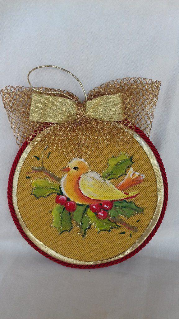 Medaglione Natalizio per addobbo albero di Natale, by Il Meraviglioso Mondo di Artemisia, 25,00 € su misshobby.com