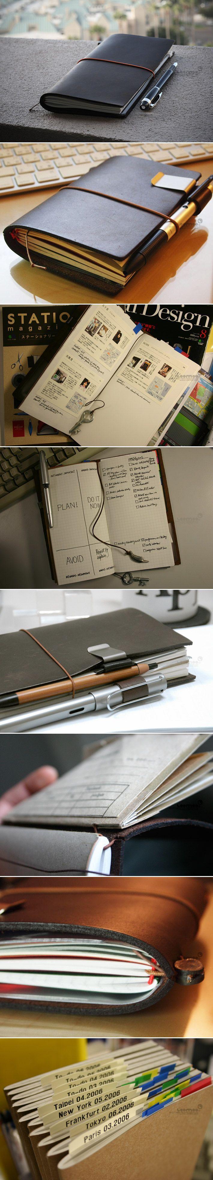 INFMETRY:: Midori Traveler's Notebook - Office Supplies - Home