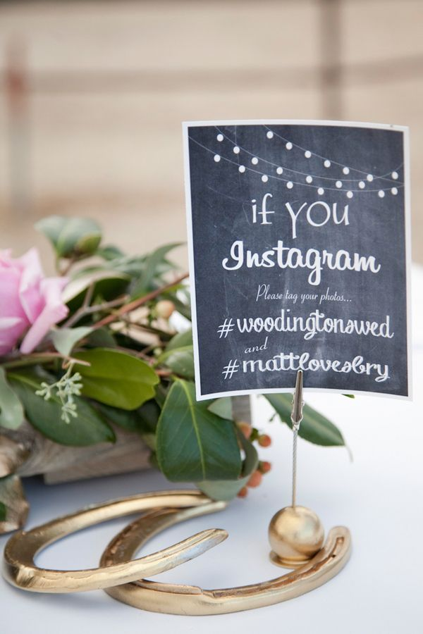During cocktail hour, share your wedding hashtag and encourage guests to tag their photos. | Tana Photography