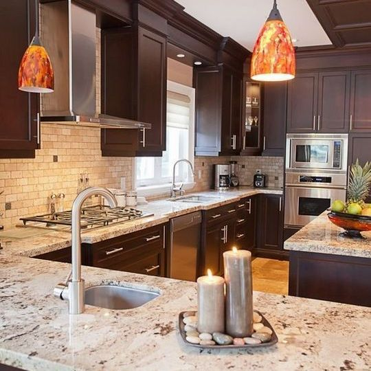 Best 28 The Benefits Of Dark Cabinets With Light Granite 640 x 480