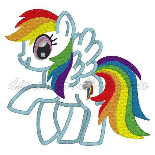 My Little Pony Rainbow Dash Machine Applique 4 00