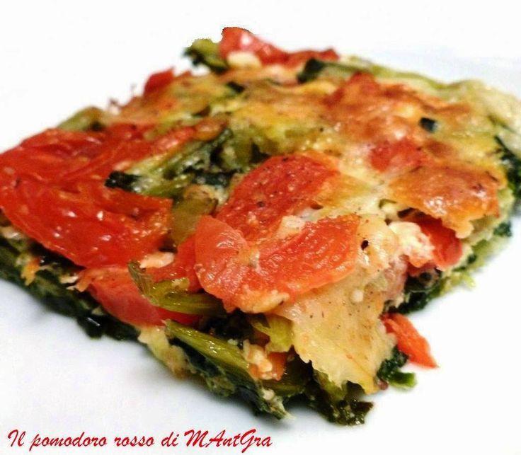 Il Pomodoro Rosso di MAntGra: Tortino di catalogna e Provolone Auricchietto