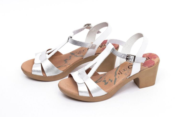 miMaO Eivissa S Blanco –– Sandalias mujer tacón plataforma cómodo piel blanco- Comfort women's sandals heel platform white glitter leather