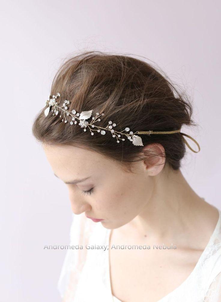 Корейский свадебный головной убор волос группа Europe Сен Департамент золотых листьев ленты для волос кристалл алмаза гирлянды свадьба аксессуары для волос - Taobao