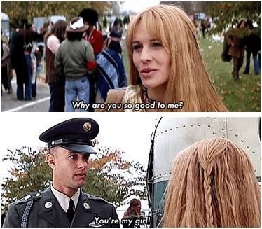 What themes in American History are present in the movie Forrest Gump?