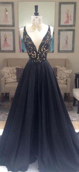 Beading V-Neck Zipper Prom Dresses 2017