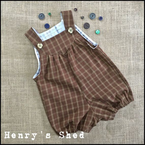 Easy wear Boys Romper by HenrysShed on Etsy Mais