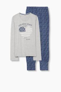 Neuer ESPRIT Pyjama neu 38 grau blau Jersey Baumwolle in Hannover - Vahrenwald-List | eBay Kleinanzeigen