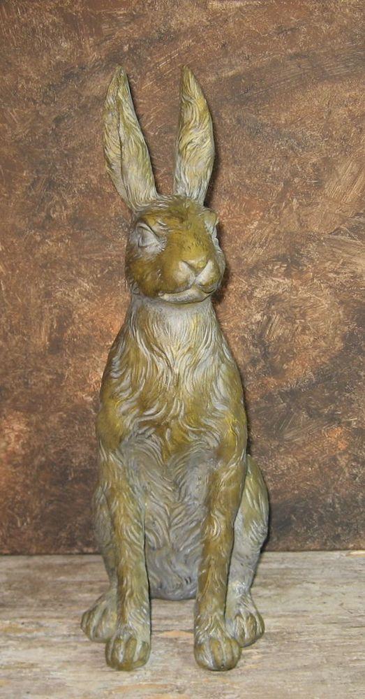 Bunny Rabbit STATUE*Primitive/French Country Garden Easter Decor  #NaivePrimitive