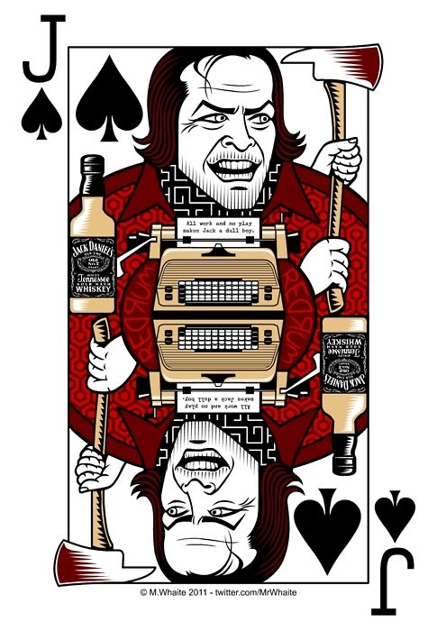 Here are some more playing cards in the terrific series created by Mr. Whaite!