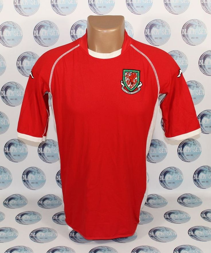 WALES NATIONAL TEAM 2002 2003 HOME FOOTBALL SOCCER SHIRT JERSEY MAILLOT KAPPA M  #KAPPA #WALES
