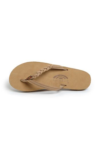 New Braided Rainbow flip flops. I'd never actually pay this much for flip flops...but they're cute!