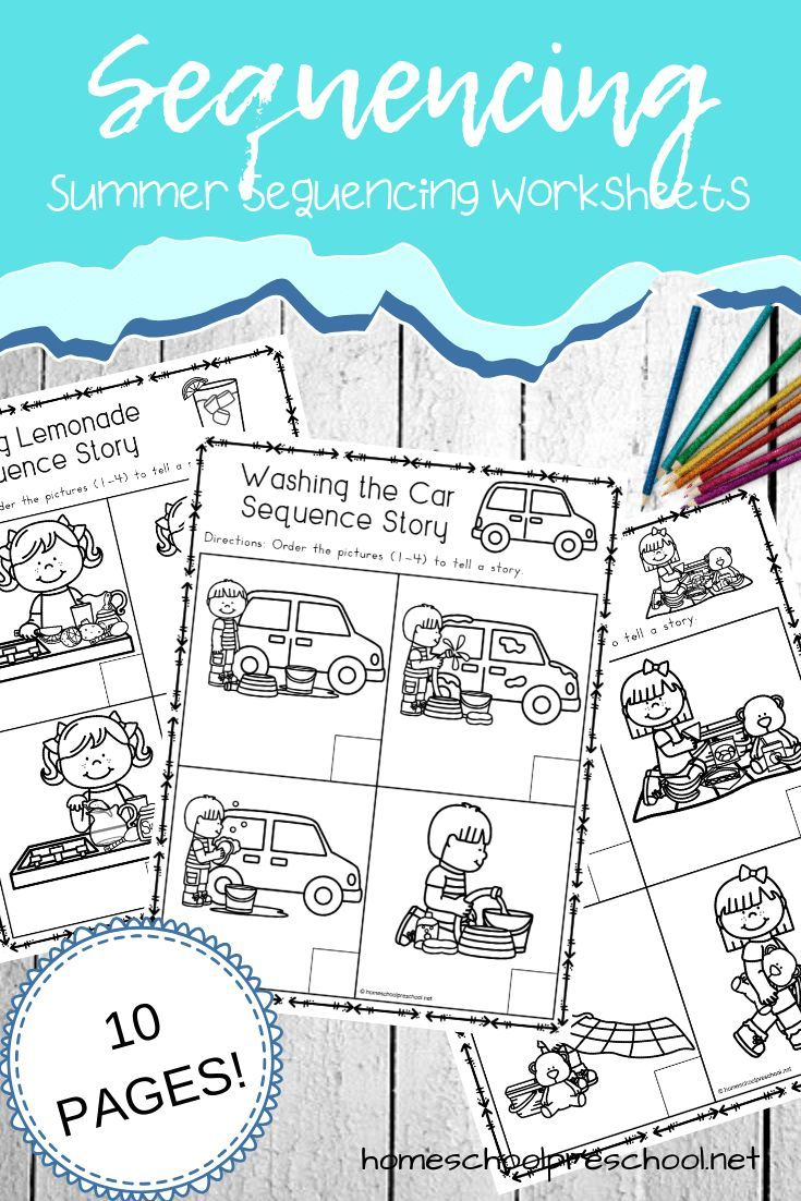 Free Sequencing Worksheets for Summer Learning   Sequencing worksheets [ 1102 x 735 Pixel ]