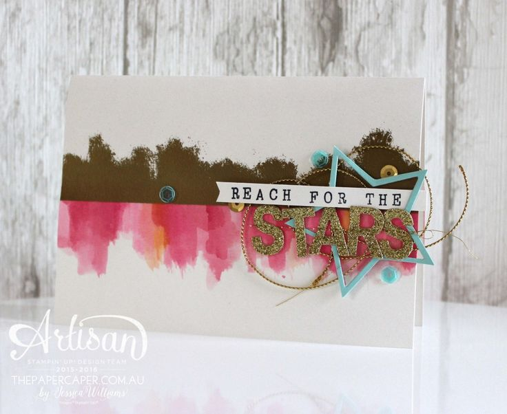Reach for the Stars! Stampin' Up! Artisan Design Team display card by Jessica Williams