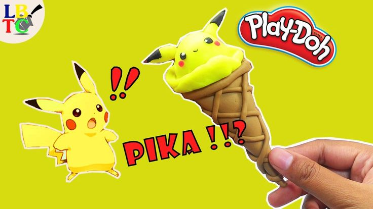 Play Doh Ice cream Pokemon Go - Pikachu | How to Make Play Dough Fun for...