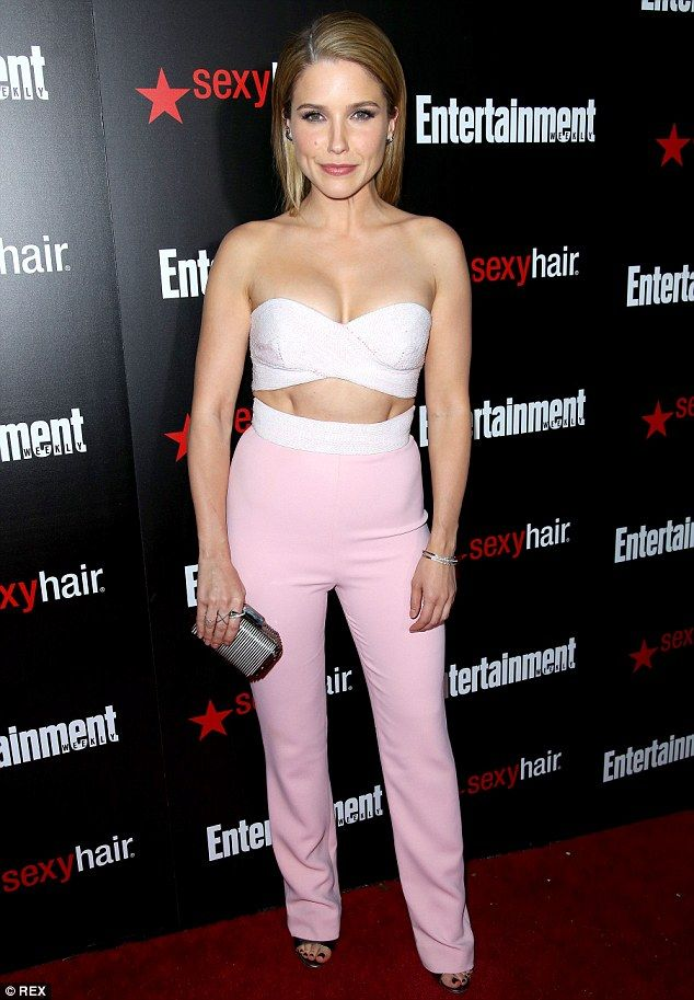 Trying out a new look: Sophia Bush traded in her usual casual style for a striking outfit at a party thrown by Entertainment Weekly to honour Screen Actors Guild Awards nominees in Los Angeles on Saturday