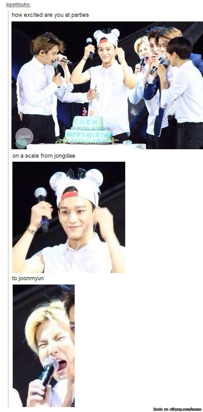 Parents at their kids birthday be like... #exo #chen #suho