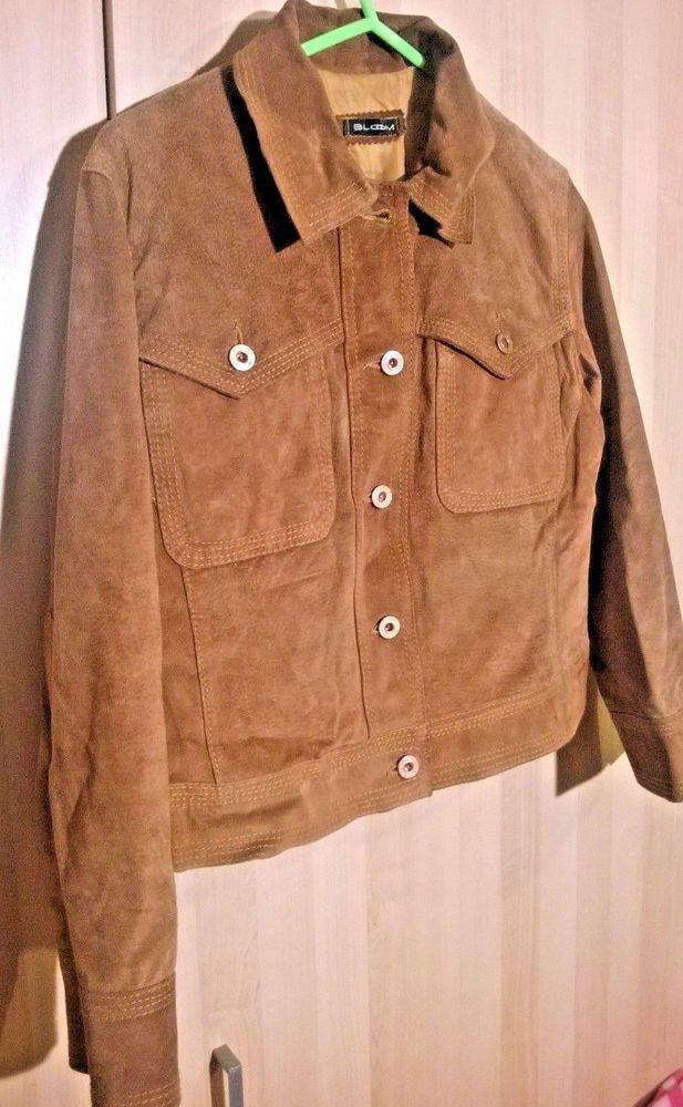 jacket female suede brown size M #blom #BasicCoat