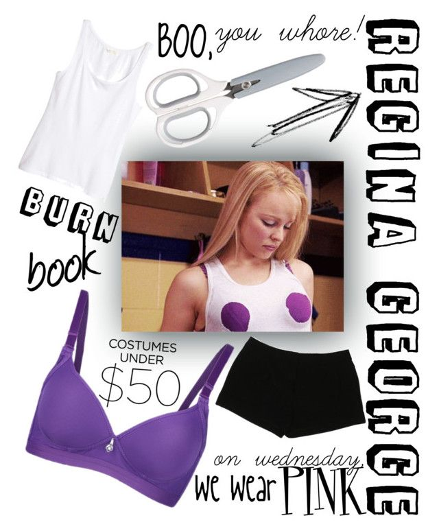 """REGINA GEORGE COSTUME<$50!!!!"" by maya-69 ❤ liked on Polyvore featuring H&M and Express"