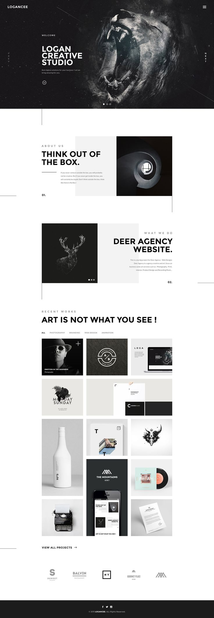 Logancee | Creative Studio Homepages on Behance