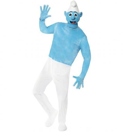 Men's Blue Smurf Fancy Dress Costume xoxo