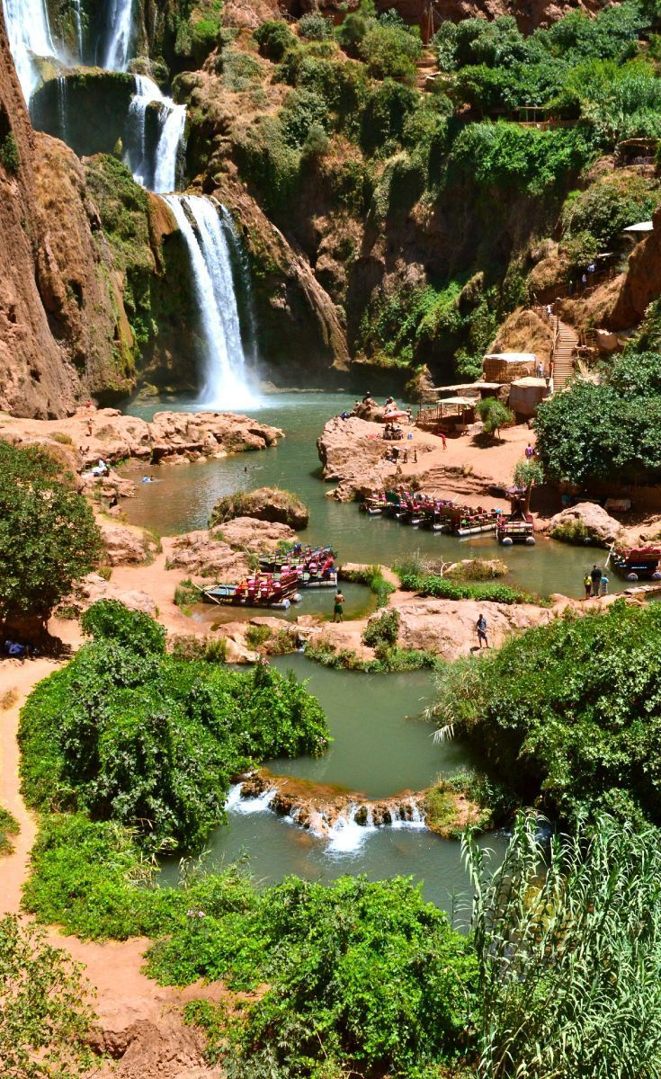 Enjoy nature at the amazing waterfalls of Ozoud, Morocco.