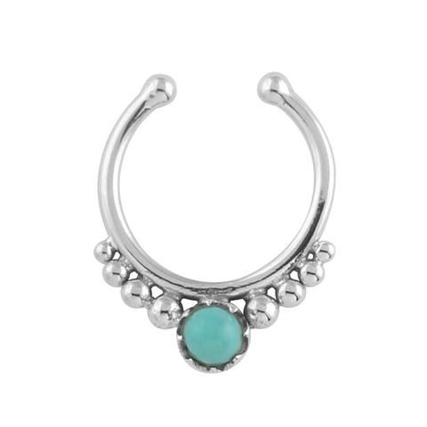 Rising Dawn Faux Septum Ring $19 #turquoise #sterlingsilver #fauxseptumring
