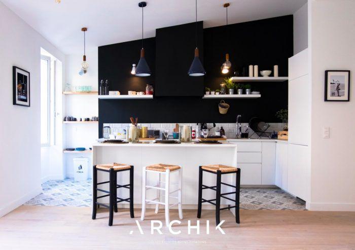 Pi Le Noir Prend Ses Quartiers Sur Nos Murs Cuisine Noir Et