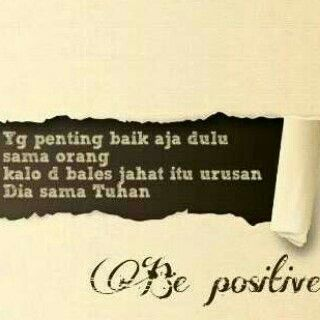 Learning to Positif thinking